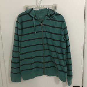 Threads 4 Thought Green/Black Striped Hoodie - XL